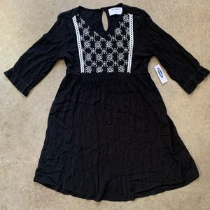 Girls NWT Old Navy Crepe Soft Dress Black M 8